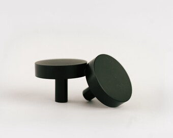 Matte Black Kitchen or Cabinet Knob - Medium Round Drawer Pull (Leedle Collection) & Black cabinet pulls | Etsy