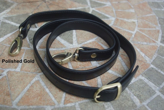 PU leather  105-120cm Adjustable Cotton Bag Strap Gold buckle Crossbody Strap Me641