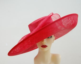 Dubai Scarlet Red extra karge feature hat by Hats2go