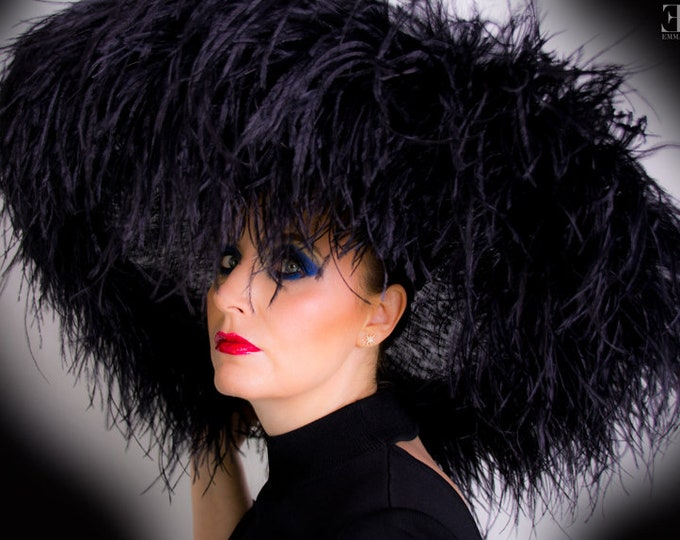 Featured listing image: Emma - Extra large Hat Black By Hats2go