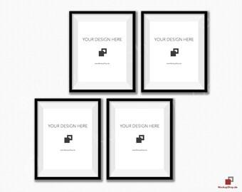 Download Free BLACK FRAME MOCKUP 8x10, Set of 4 vertical Frame mockup, Empty Frame Styled Stock Photography, Product Background Mockup, black frame mockup PSD Template