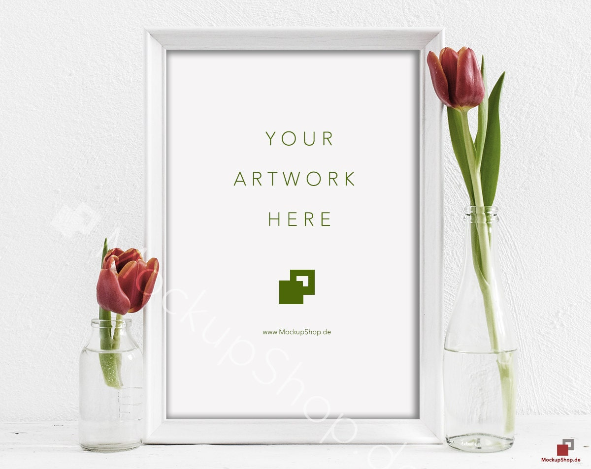 Rote Tulpen MOCKUP Rahmen 10 x 14/ Frühling Blumen / | Etsy