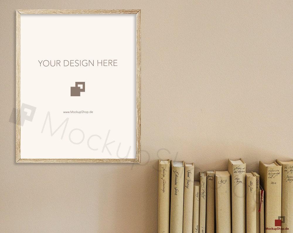 8 x 10 alten Rahmen MOCKUP Holz Landschaft / Set von 2 / mit