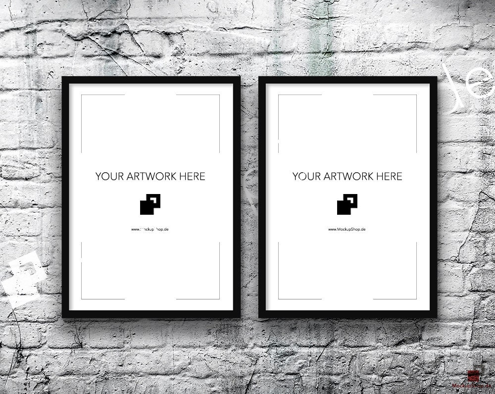 5x7 Set of 2 Frames BLACK FRAME MOCKUP, Vertical, Styled Photography ...