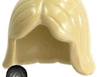 Lego mariage figurine figure mariée demoiselle d/'honneur blanc uni marron cheveux ondulés