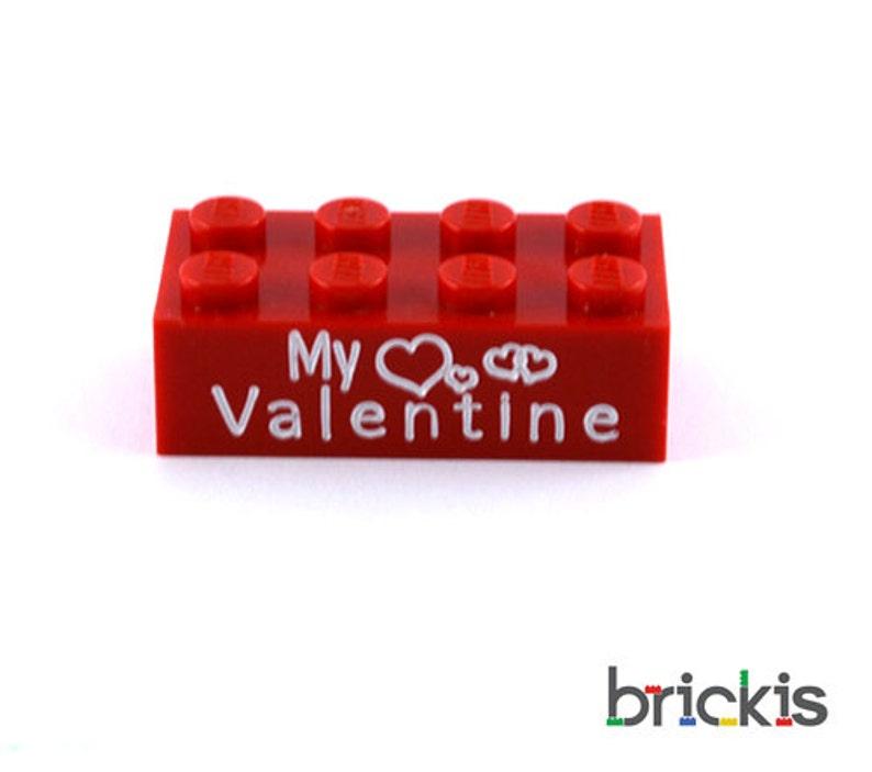 LEGO\u00ae brick with My Valentine engraved personalized