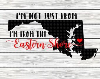 Eastern Shore MD svg design - Eastern shore svg - Maryland SVG design - svg design - maryland svg - MD Eastern shore svg - instant download