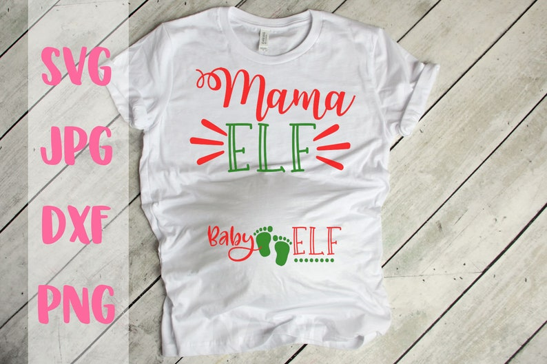 09303b60a5bf0 Mama Elf Baby Elf Maternity svg Christmas maternity svg | Etsy