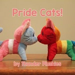 LGBT PRIDE Cats! Custom flag colors also available!