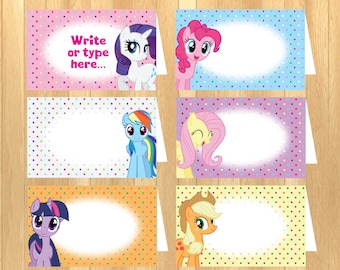 INSTANT DOWNLOAD - EDITABLE My Little Pony Food Tent