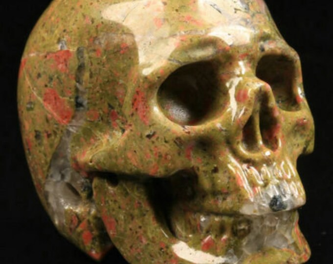 Unakite Carved Skull  #030