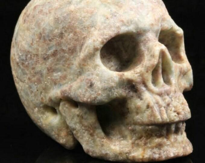 Ruby Fuchsite Carved Skull  #070
