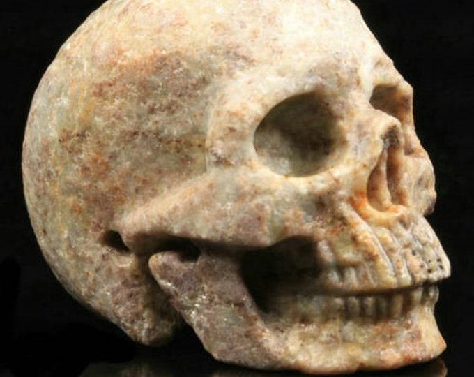 Ruby Fuchsite Carved Skull  #072