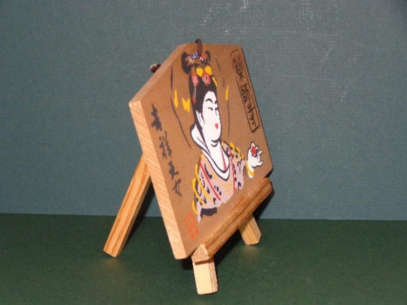 Japanese Vintage Wood Lucky Prayer Board EMA Temple  National Treasure Nara