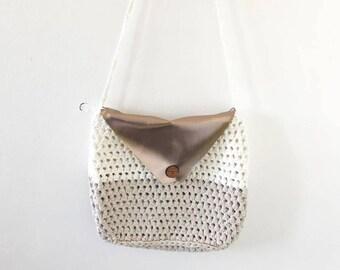 Crochet Rose Gold Shoulder Bag Pattern