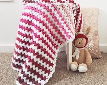 Crochet Pink Blanket Etsy