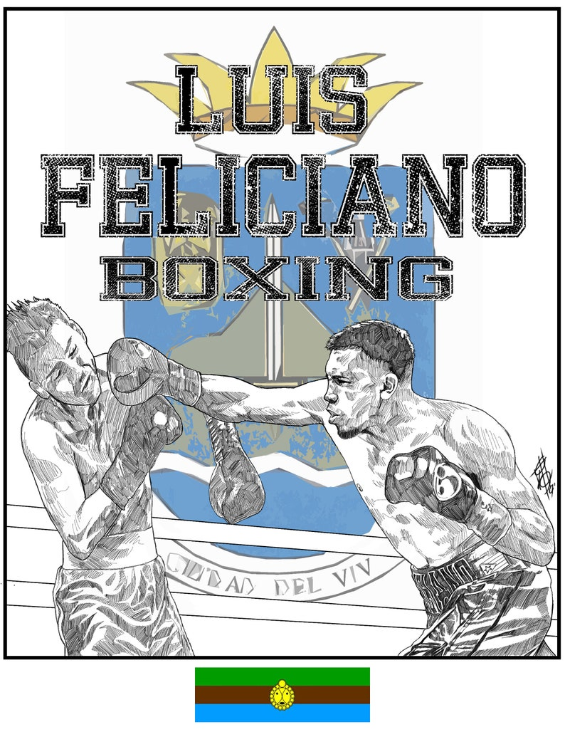Luis Feliciano Boxing Limited Print image 0