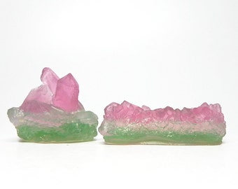 Watermelon Tourmaline Crystal Soap Set - Choose your Scent