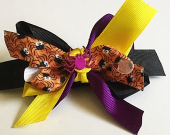 Halloween Spider Ribbon Bow for Dog & Cat Collar