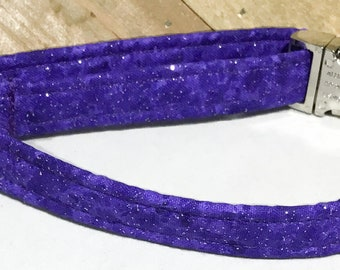 Sparkling Purple Diva Collar for Girl Dogs and Cats