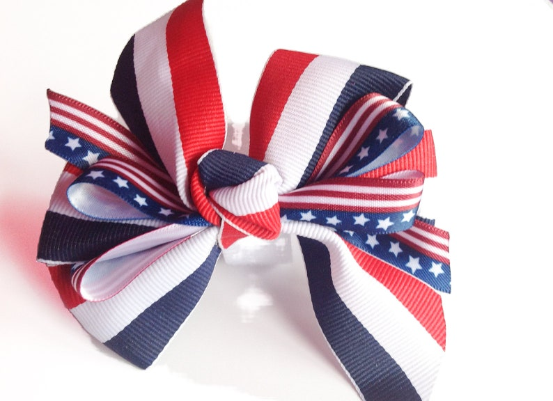 Memorial Day and 4th of July Patriotic Collar Bow for Dog or image 1