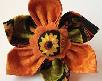 Seasonal Fall Flower with Sunflowers for Girl Dog or Cat Collar