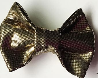 Gold Christmas and Wedding  Bow tie for Dog and Cat Collar