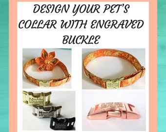 Design Your Pet's Collar With Engraved Buckle
