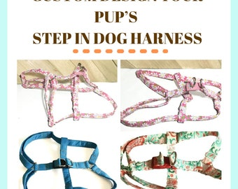 Custom Design Your Dog's Step-In Harness