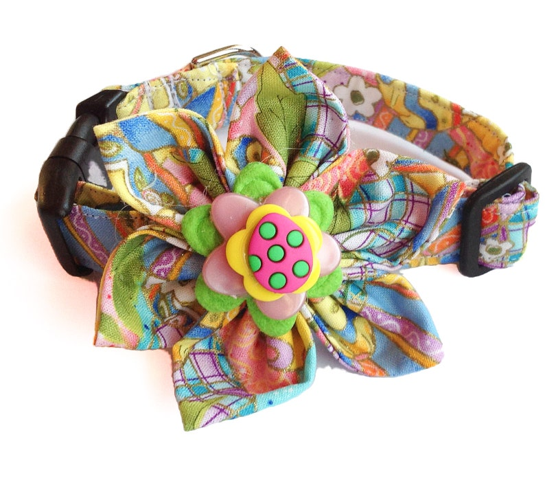 Easter Egg Flower Collar for Dogs and Cats image 0