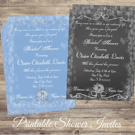Cinderella bridal shower invitations digital bridal shower etsy image 0 filmwisefo