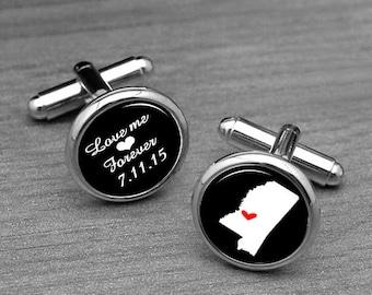 Pens & Writing Instruments Tie Clip Cufflinks Usb Money Clip Pen Box Gift Set Tampa City Usa Flag