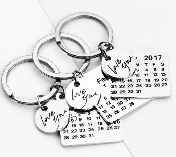Portachiavi calendario personalizzato con cuore