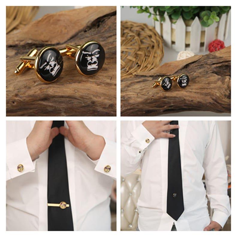 Trombone Cufflinks Men/'s Handcrafted Silver Band Instrument Cuff Links personalized cufflinks musical instrument cufflinks and Tie clips