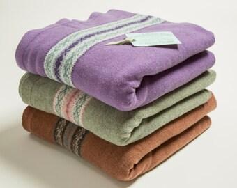 Luxury, 100 % lambswool knitted fairisle blanket or single throw