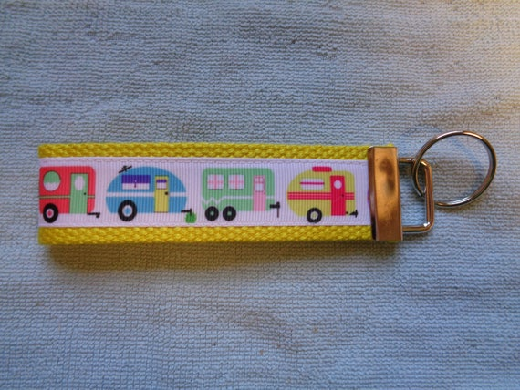 Tiny Camper Retro Travel Trailer Key Fob Home Storage Hooks