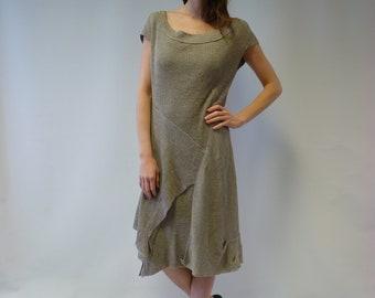 d9367e2b34 Knitted pure linen dress