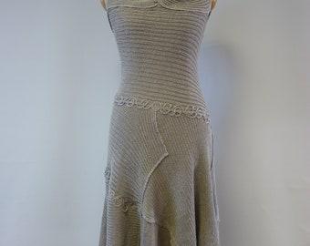 3d007f5530 Artsy feminine pure linen dress