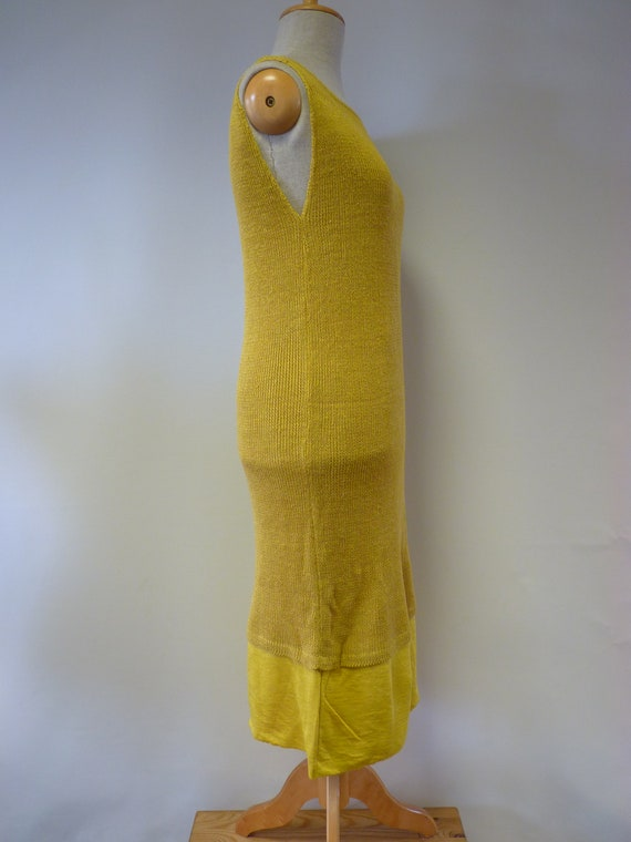 Only one Sale L dress size yellow sample linen wBppqXP