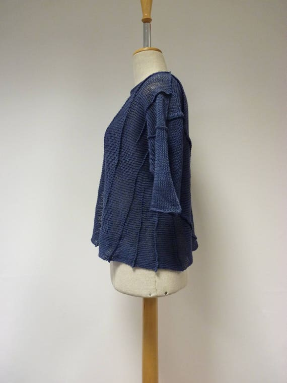 S Special size sweater Denim M linen price IqaR4
