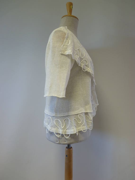 linen cardigan price size white off Special Handmade L OvIXqdAx