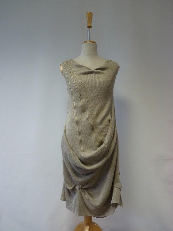 kind M Amazing One of dress style feminine a size asymmetrical natural linen fashion wZZaTz