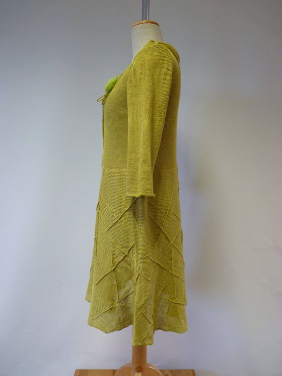 size hot The price green light M dress linen 0wCd7xz