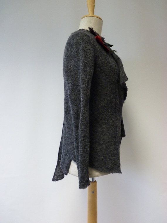 cardigan The grey size Delicate hot price artsy Casual together L asymmetrical and formal 8qqrTYpnw