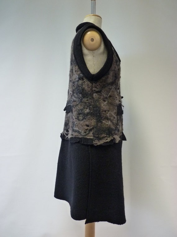 SALE size Handmade price 210 vest original 80 price new felted EUR one M long sample EUR Amazing only 1nr6q1x