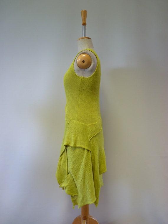 Summer size linen M knitted dress OIOxrSq