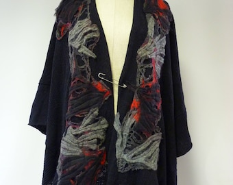 Sale. Exceptional boho knitted poncho, oversized. Only  one sample.