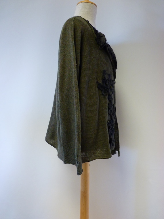 size forest cardigan Special wool XL green price qYAwfn0Z