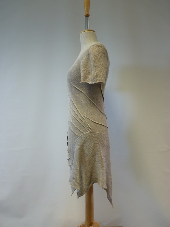 size Natural Handmade look and short dress Sale M vintage feminine linen tunic Y4qPd0