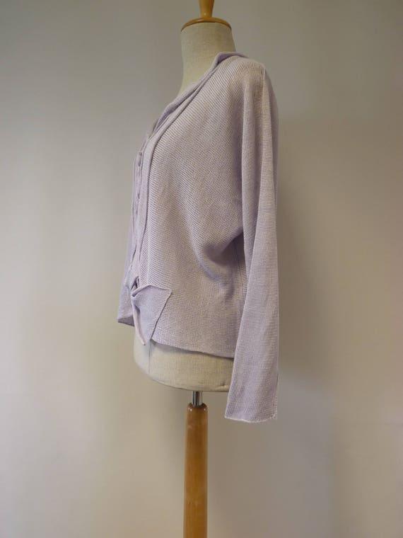 sweater size linen Handmade lilac price L Special wT1qvv
